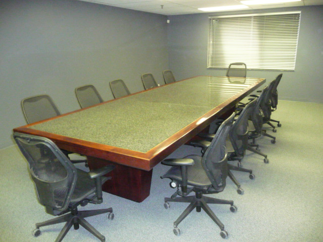 Granite CConference Table 5' wide x 15'  long.